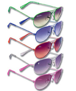 Ladies Color Style Metal Sunglasses